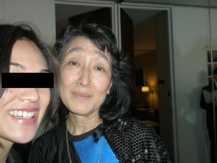 Me (with a crazy look in my eyes) and Mitsuko Uchida